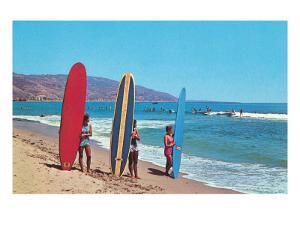 Children with Surf Boards
