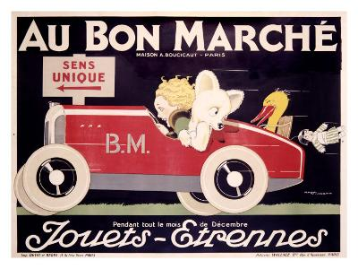 Childrens au Bon Marche Roadster--Giclee Print