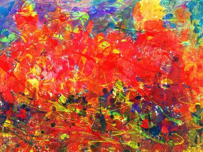 Childs Abstract Painting-Alexey Kuznetsov-Art Print