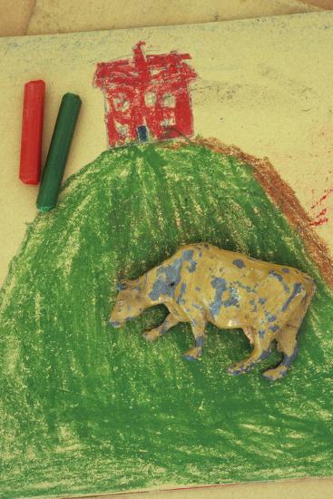 Childs Drawing-Den Reader-Premium Photographic Print