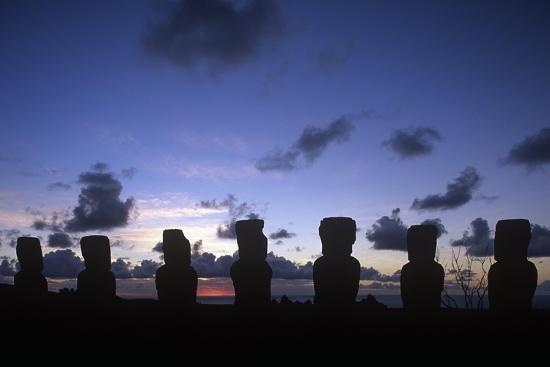 Chile, Easter Island, Rapa-Nui National Park, Ahu Akivi--Giclee Print
