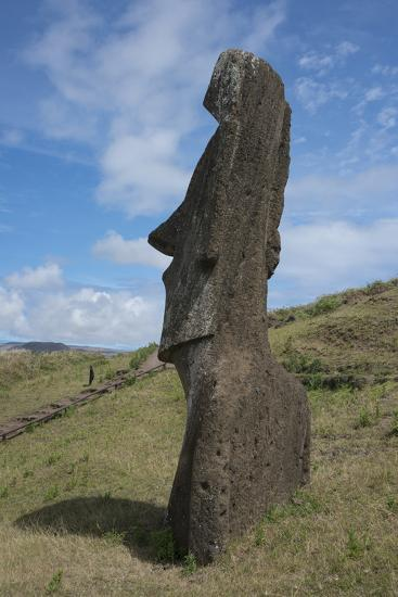 Chile, Easter Island. Rapa Nui NP, Historic Site of Rano Raraku-Cindy Miller Hopkins-Photographic Print