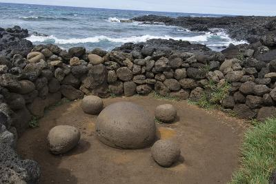 Chile, Easter Island. Te Pito Kura. Stone Called Navel of the Earth-Cindy Miller Hopkins-Photographic Print