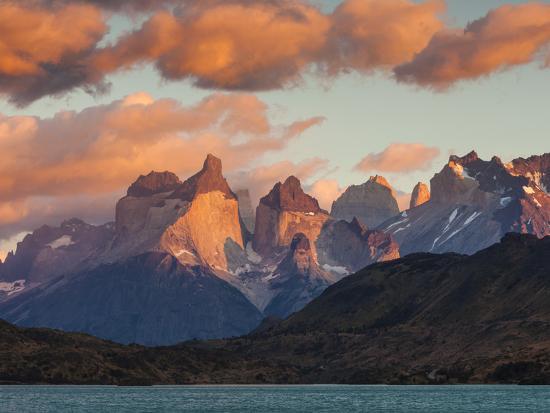Chile, Magallanes Region, Torres Del Paine National Park, Lago Pehoe, Dawn Landscape-Walter Bibikow-Photographic Print