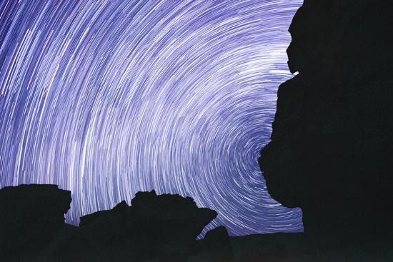 Chile, Monjes De Pakana, Startrail, Rock Formations-Jutta Ulmer-Photographic Print