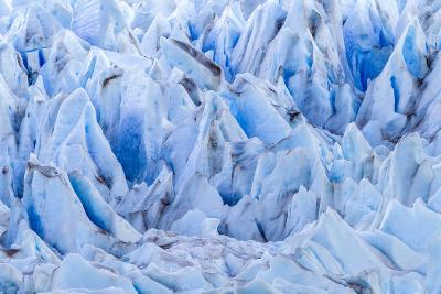 Chile, Patagonia, Torres del Paine NP. Close-up of Blue Glacier-Cathy & Gordon Illg-Photographic Print