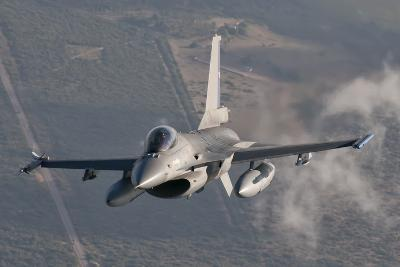 Chilean Air Force F-16 in the Air over Brazil-Stocktrek Images-Photographic Print