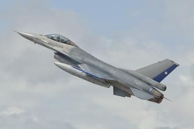 Chilean Air Force F-16 Taking Off from Natal Air Force Base, Brazil-Stocktrek Images-Photographic Print