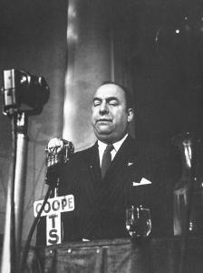 Chilean Poet Pablo Neruda Speaking at the Communist-Inspired Paris Peace Congress