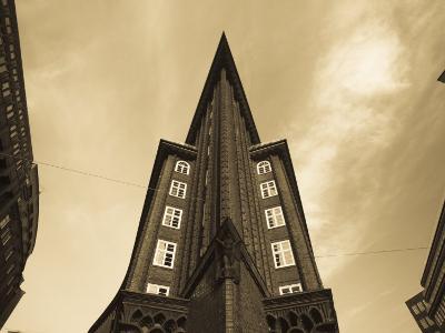 Chilehaus Office Building, Merchant District, Hamburg, State of Hamburg, Germany-Walter Bibikow-Photographic Print