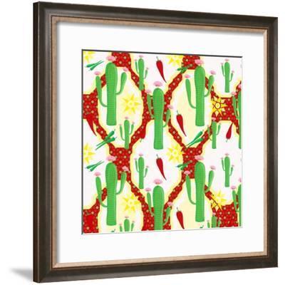 Chili Fiesta Pattern II-Andi Metz-Framed Art Print