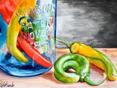 Chili Peppers-Jennifer Redstreake Geary-Art Print