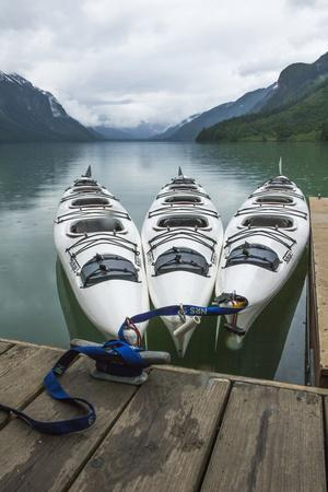 Chilkoot Lake, Kayaks at the Dock Haines, Alaska-Michael Qualls-Photographic Print