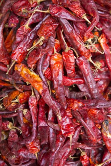 Chilli Peppers in the Market, Monywa, Sagaing, Myanmar, Southeast Asia-Alex Robinson-Photographic Print