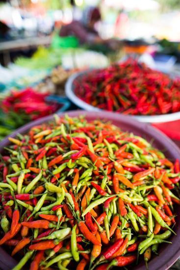 Chillies in Market, Phuket, Thailand, Southeast Asia, Asia-John Alexander-Photographic Print
