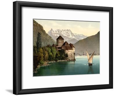 Chillon Castle, and Dent Du Midi, Geneva Lake, Switzerland, C.1890-C.1900