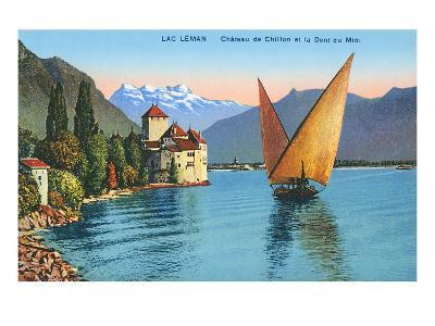 Chillon Castle, Lake Geneva, Switzerland--Art Print