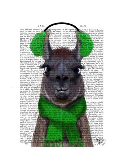 Chilly Llama, Green-Fab Funky-Art Print