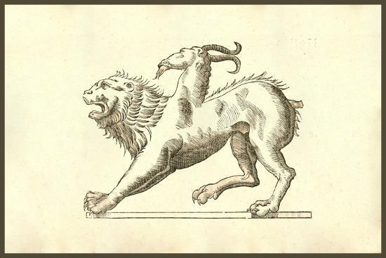 Chimera (Icon Monstrosae Cuiusdam Chimaerae)-Ulisse Aldrovandi-Art Print