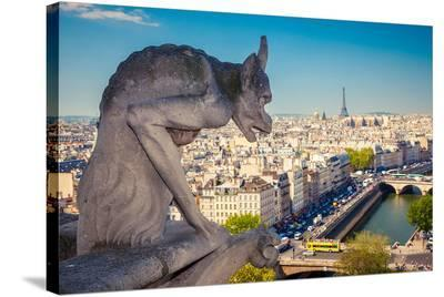 Chimera Notre Dame-Paris--Stretched Canvas Print