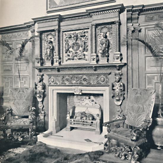 'Chimney-Piece in the Great Hall, Castle Ashby, Northampton', 1927-Unknown-Photographic Print