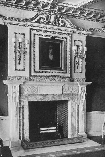 'Chimney-Piece in the Red Drawing Room, Raynham Hall, Norfolk', 1927-Unknown-Photographic Print