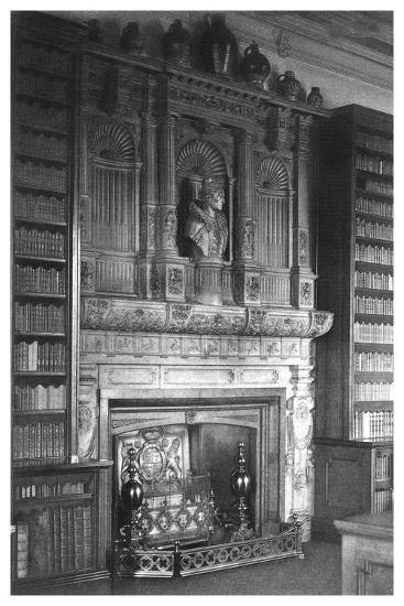 Chimney Piece of the Library at Windsor Castle, 1896--Giclee Print