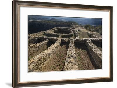 Chimney Rock National Monument in Colorado-Michael Melford-Framed Photographic Print