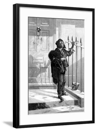 Chimney Sweep on the Morning Call,1853--Framed Giclee Print