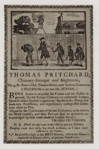Chimney Sweeps, Thomas Pritchard, Trade Card