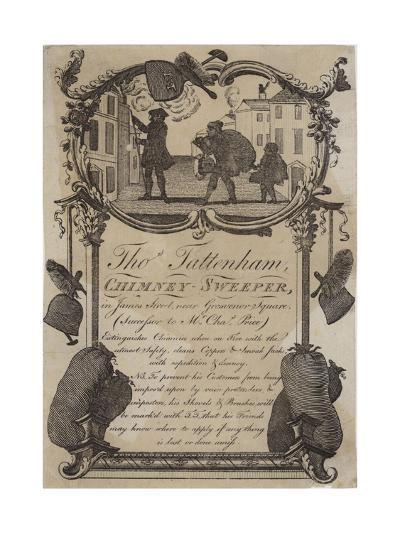 Chimney Sweeps, Thomas Tattenham, Trade Card--Giclee Print