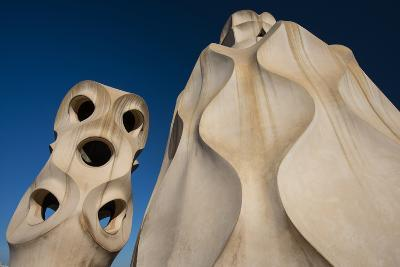 Chimneys as Abstract Sculptures by Gaudi on the Rooftop of Casa Mila, also Know as La Pedrera-Michael Melford-Photographic Print