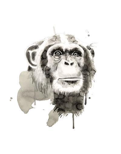 Chimp-Philippe Debongnie-Art Print