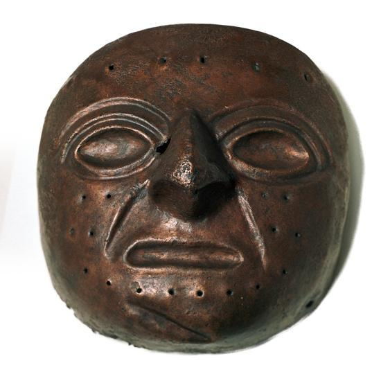 Chimu culture copper mask. Artist: Unknown-Unknown-Giclee Print
