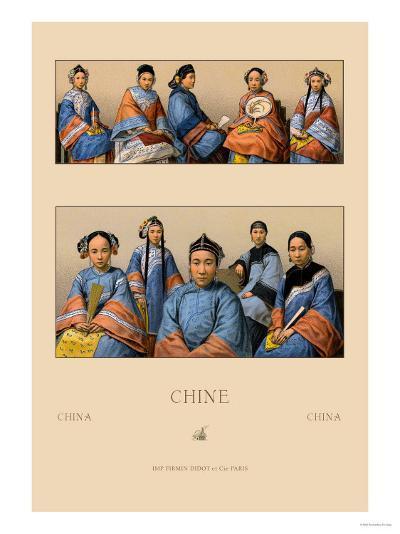 Chin Manchu Women-Racinet-Art Print