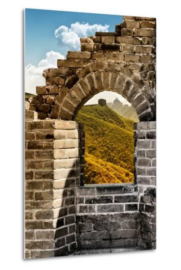 China 10MKm2 Collection - Arch Window of the Great Wall of China-Philippe Hugonnard-Metal Print