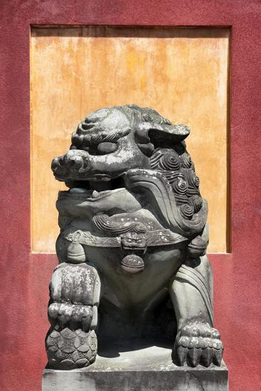 China 10MKm2 Collection - Asian Sculpture of a Stone Lion-Philippe Hugonnard-Photographic Print