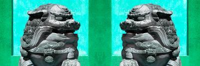 China 10MKm2 Collection - Asian Sculpture with two Lions-Philippe Hugonnard-Photographic Print