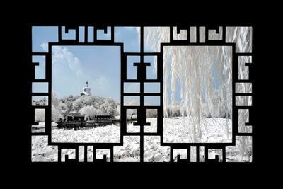 China 10MKm2 Collection - Asian Window - Another Look Series - Beihai Park-Philippe Hugonnard-Photographic Print