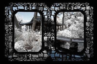 China 10MKm2 Collection - Asian Window - Another Look Series - Black Chinese Temple-Philippe Hugonnard-Photographic Print