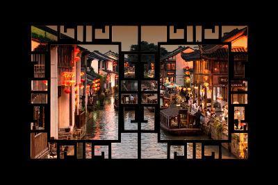 China 10MKm2 Collection - Asian Window - Beautiful Shantang water Town-Philippe Hugonnard-Photographic Print
