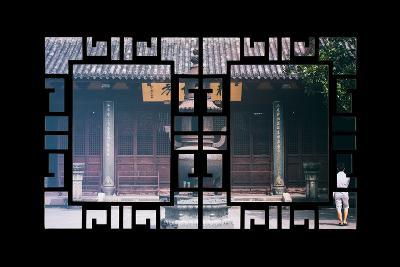 China 10MKm2 Collection - Asian Window - Buddhist Temple-Philippe Hugonnard-Photographic Print
