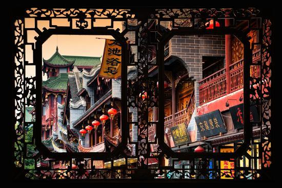 China 10MKm2 Collection - Asian Window - Chinese Architecture-Philippe Hugonnard-Photographic Print