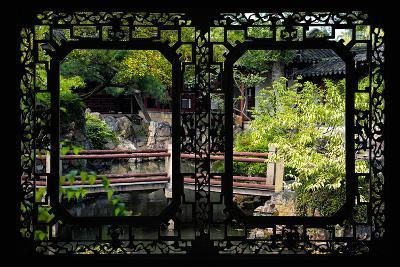 China 10MKm2 Collection - Asian Window - Chinese Garden-Philippe Hugonnard-Photographic Print