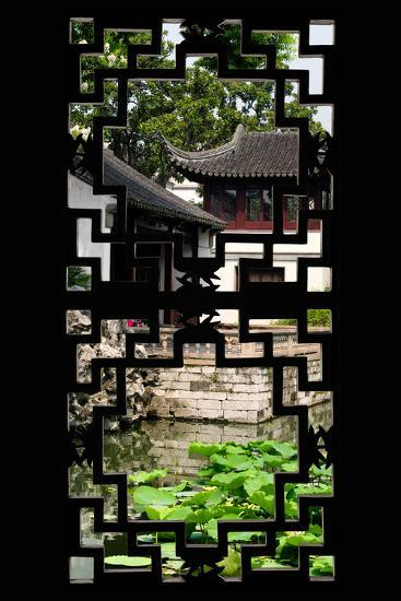 China 10MKm2 Collection - Asian Window - Chinese Temple-Philippe Hugonnard-Photographic Print