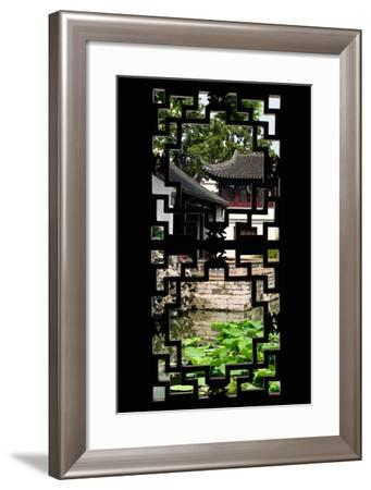 China 10MKm2 Collection - Asian Window - Chinese Temple-Philippe Hugonnard-Framed Photographic Print