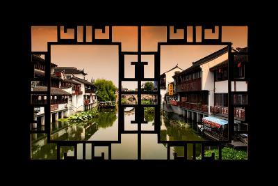 China 10MKm2 Collection - Asian Window - Chinese Water Town-Philippe Hugonnard-Photographic Print