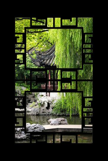 China 10MKm2 Collection - Asian Window - Classical Chinese Pavilion-Philippe Hugonnard-Photographic Print