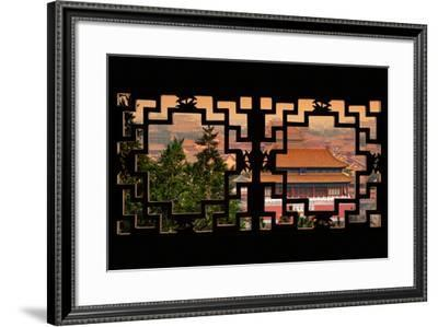 China 10MKm2 Collection - Asian Window - Forbidden City at Sunset - Beijing-Philippe Hugonnard-Framed Photographic Print