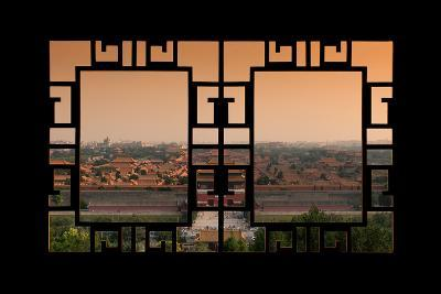 China 10MKm2 Collection - Asian Window - Forbidden City at Sunset - Beijing-Philippe Hugonnard-Photographic Print